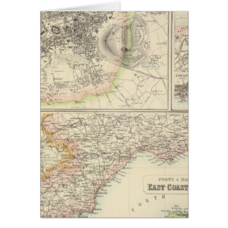 Ports and Harbours On The East Coast of Scotland Card