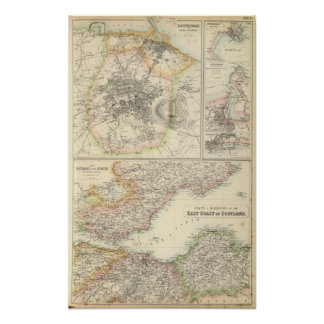 Ports and Harbours On The East Coast of Scotland Poster
