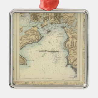 Ports and Harbours on the South Coast of England Metal Ornament