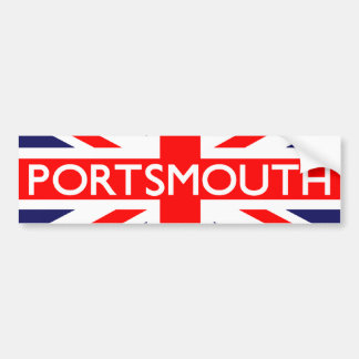 Portsmouth : British Flag Bumper Sticker