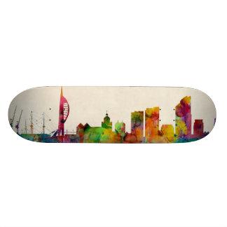 Portsmouth England Skyline Skate Deck