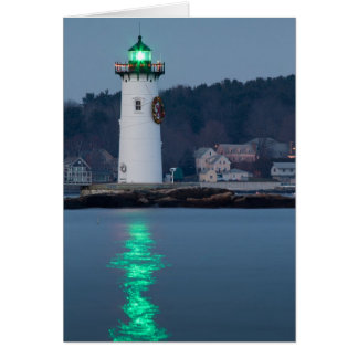 Portsmouth Harbor Light Decorated Card