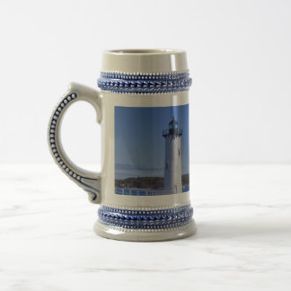 Portsmouth Harbor Lighthouse Stein Coffee Mugs