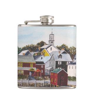 Portsmouth Harbour New Hampshire Hip Flask