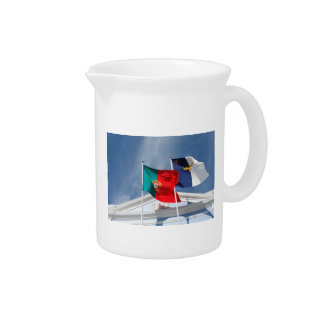 Portugal and Azores flags Beverage Pitcher