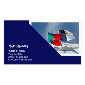 Portugal and Azores flags Business Cards