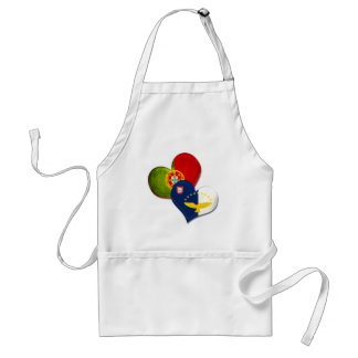 Portugal and Azores hearts Adult Apron