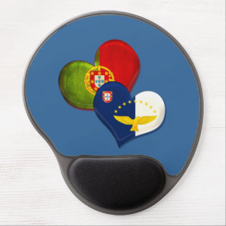 Portugal and Azores hearts Gel Mouse Mat