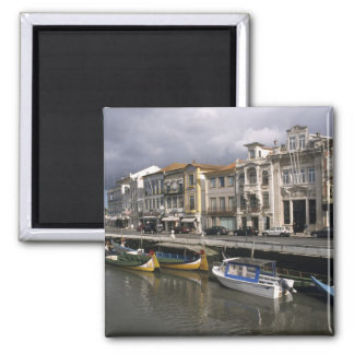 Portugal, Aveiro. Moliceiros (seaweed collecting Square Magnet