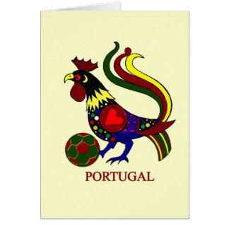 """Portugal barcelos """"galo"""" jogador de futebol card"""