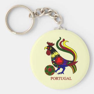 """Portugal barcelos """"galo"""" jogador de futebol key ring"""