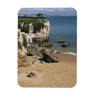 Portugal, Cascais. Praia da Rainha, a beach in Rectangular Photo Magnet