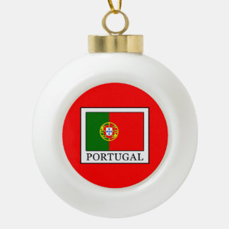Portugal Ceramic Ball Christmas Ornament
