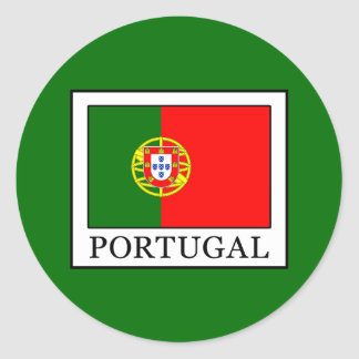 Portugal Classic Round Sticker