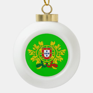 Portugal Crest* Round Christmas Ornament