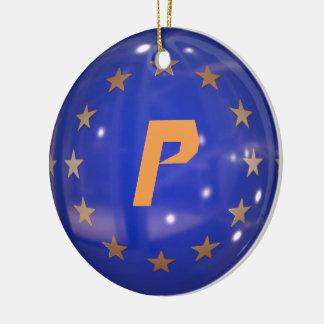 Portugal European Union Flag Ornament
