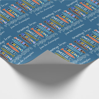 PORTUGAL Fish Pattern custom text wrapping paper