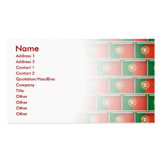 Portugal flag 3D pattern Pack Of Standard Business Cards