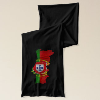Portugal Flag and Map Steel Metal Hole Scarf
