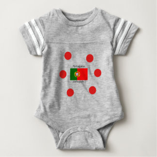 Portugal Flag And Portuguese Language Design Baby Bodysuit