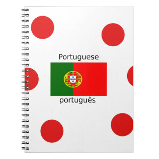 Portugal Flag And Portuguese Language Design Notebooks