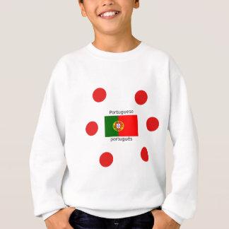 Portugal Flag And Portuguese Language Design Sweatshirt