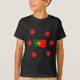 Portugal Flag And Portuguese Language Design T-Shirt