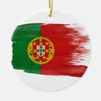 Portugal Flag Round Ceramic Decoration