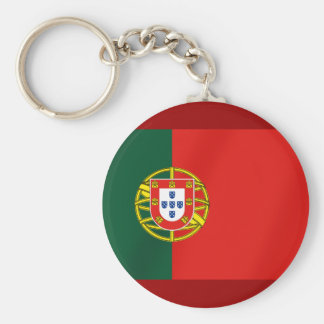 Portugal Flag for Portuguese speakers Basic Round Button Key Ring