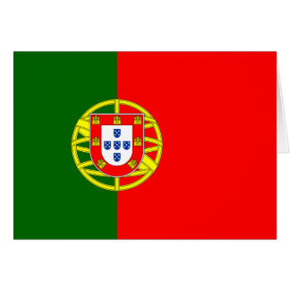 Portugal Flag Note Card