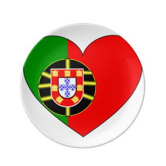Portugal Flag Simple Plate