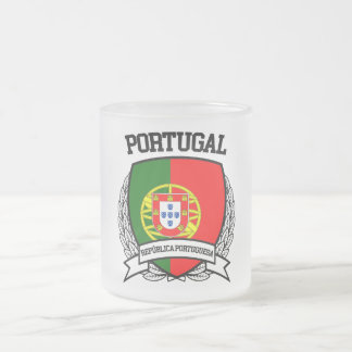 Portugal Frosted Glass Coffee Mug