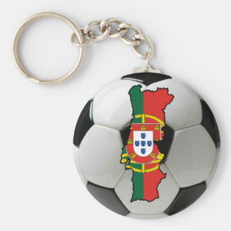 Portugal futebol basic round button key ring