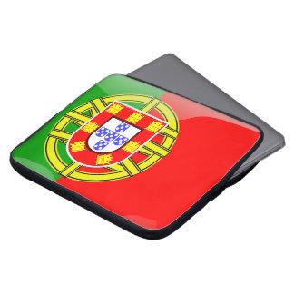Portugal glossy flag laptop sleeve