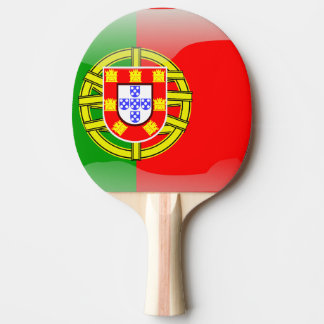 Portugal glossy flag ping pong paddle