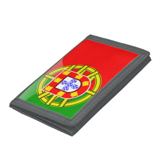 Portugal glossy flag trifold wallet