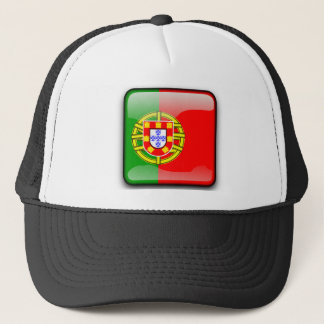 Portugal glossy flag trucker hat