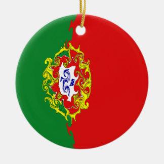 Portugal Gnarly Flag Christmas Tree Ornament