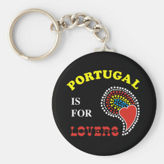 Portugal Is For Lovers Basic Round Button Key Ring