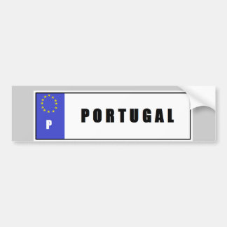 Portugal License Plate Bumper Sticker