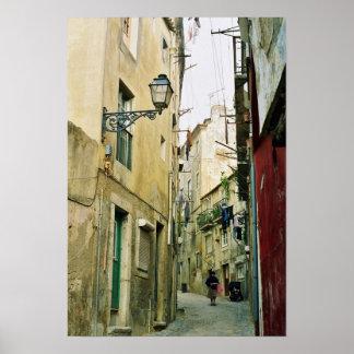 Portugal: Lisbon old street Poster