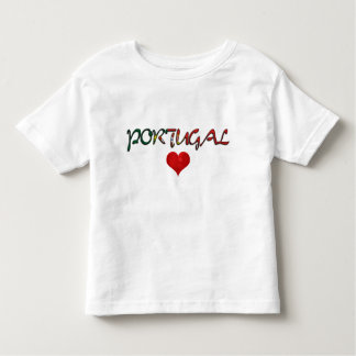 Portugal Love Red Heart Flag Colors Typography Toddler T-Shirt