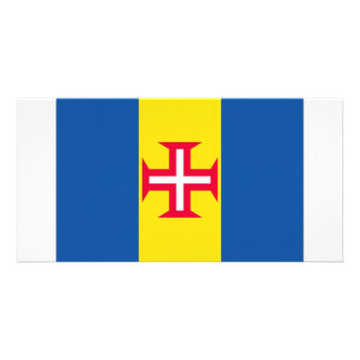 Portugal Madeira Flag Personalized Photo Card