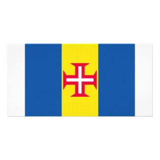 Portugal Madeira Flag Custom Photo Card