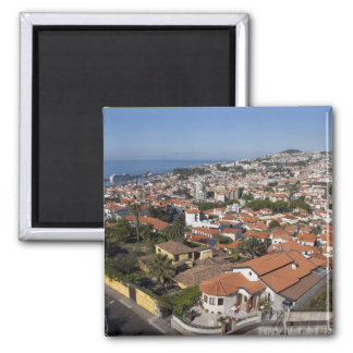 Portugal, Madeira Island, Funchal. Cable car Square Magnet