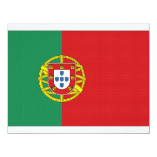 Portugal National Flag 11 Cm X 14 Cm Invitation Card