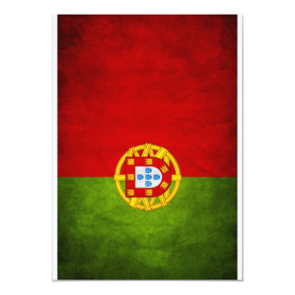 Portugal national flag 13 cm x 18 cm invitation card