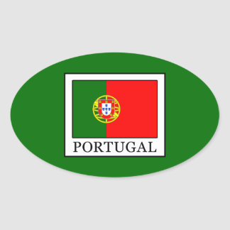 Portugal Oval Sticker