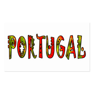 Portugal Pack Of Standard Business Cards