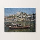 Portugal, Porto, Boat With Wine Barrels Jigsaw Puzzle